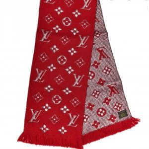 Louis Vuitton | Logomania Shiny Scarf Red
